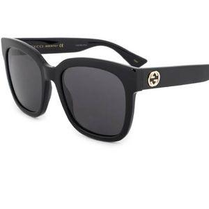Gucci GG0034S Square Sunglasses Black NEW
